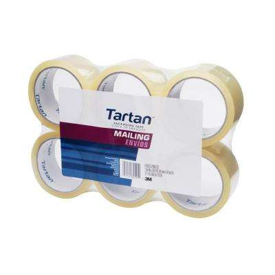 Tartan 1.88 in. x 54.6 yds. Mailing Packaging Tape (6-Pack) (Case of 6)