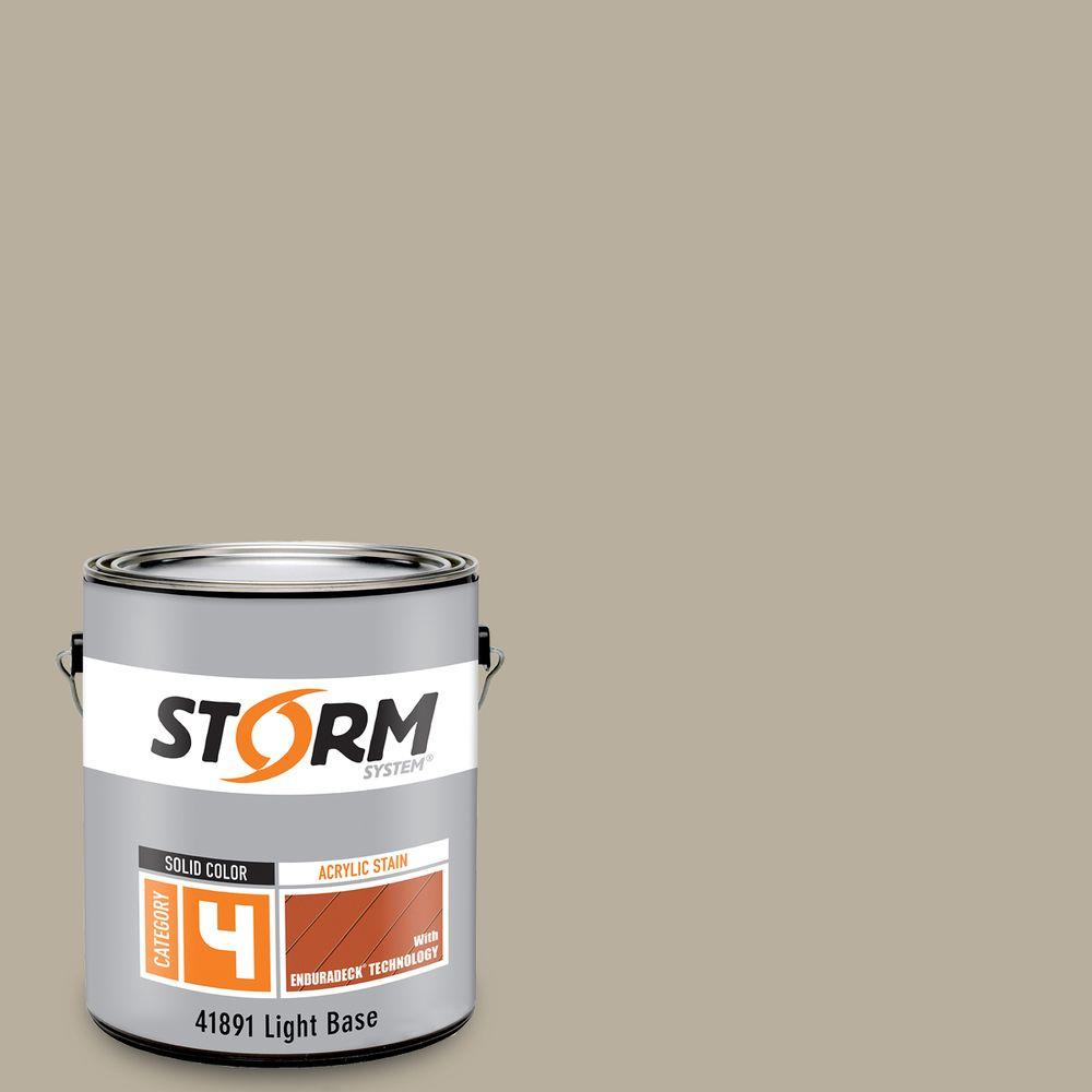Storm System Category 4 1 gal. Phoebe Exterior Wood Siding, Fencing and Decking Acrylic Latex Stain with Enduradeck Technology