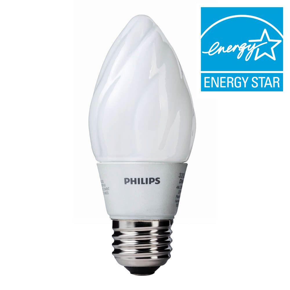 Philips 45W Equivalent Soft White F15 Dimmable LED Light Bulb (E)*
