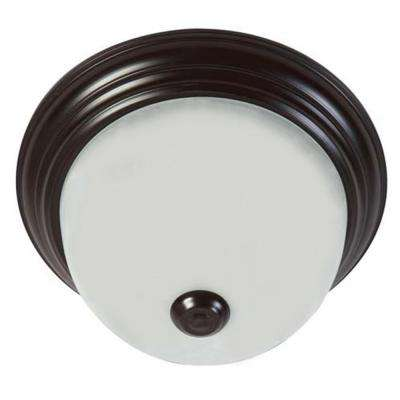 3-Light Oil-Rubbed Bronze Flushmount