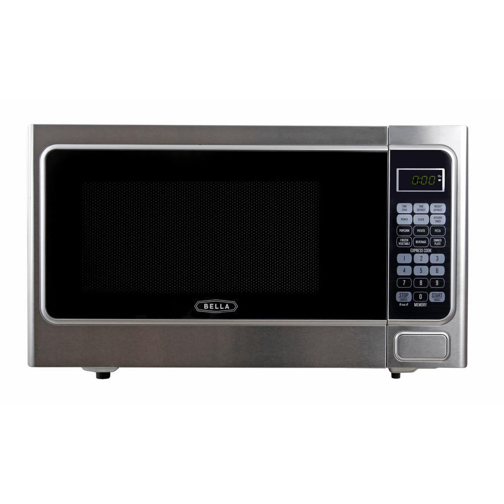 Bella 1.1 cu. ft. 1000-Watt Countertop Microwave Oven in ...