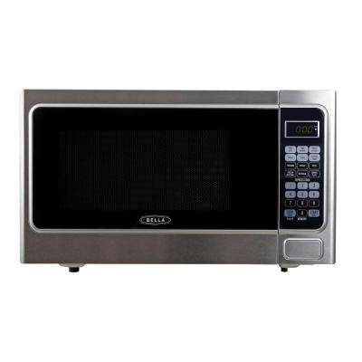 1.1 cu. ft. 1000-Watt Countertop Microwave Oven in Stainless Steel and Black