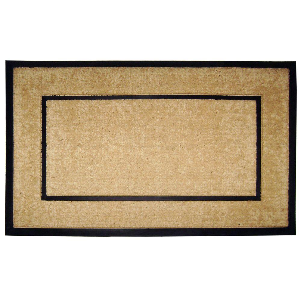 Charming Nedia Home DirtBuster Single Picture Frame Black 30 In. X 48 In. Coir With