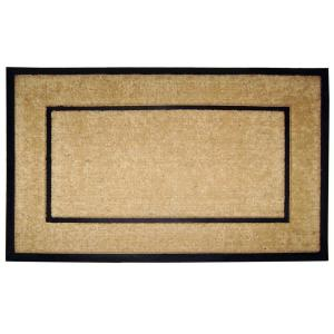 Nedia Home DirtBuster Single Picture Frame Black 30 inch x 48 inch Coir with... by Nedia Home