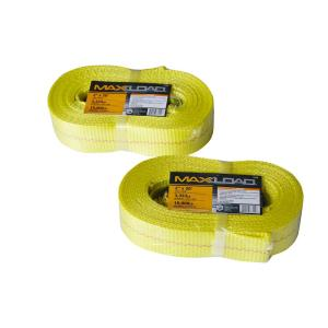 Click here to buy Max Load 2 inch x 20 ft. x 10,000 lbs. Vehicle Recovery Tow Strap (2-Pack) by Max Load.