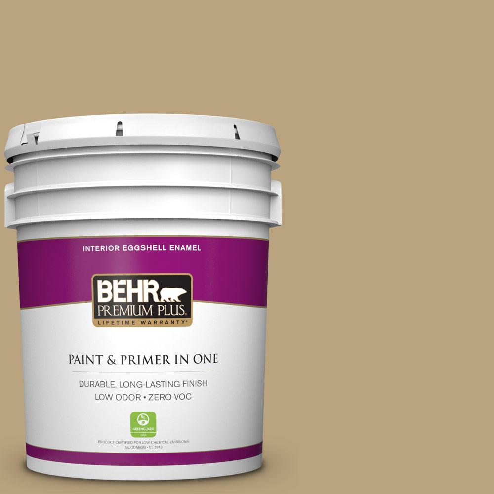 BEHR Premium Plus 5-gal. #T13-4 Golden Age Zero VOC Eggshell Enamel Interior Paint