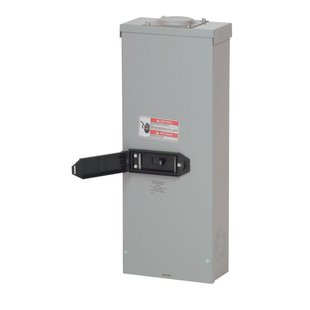 Eaton 200 Amp Enclosed Outdoor Circuit Breaker-RCC200SEBP - The Home ...