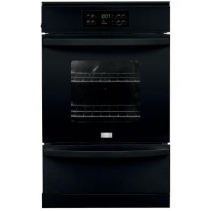24 in single gas wall oven in black