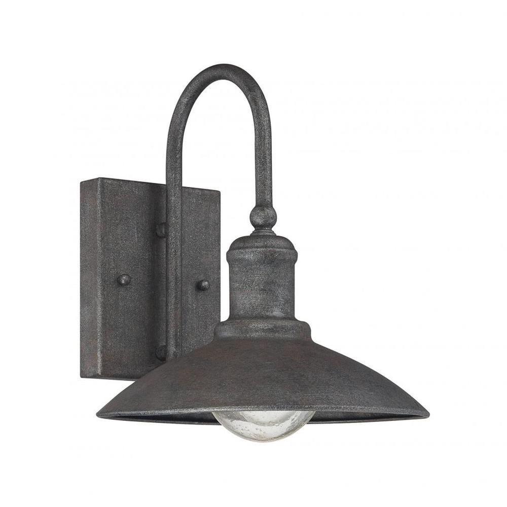 Follonica 1-Light Artisan Rust Outdoor Wall Mount Lantern
