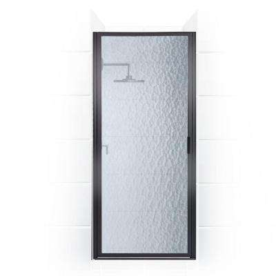 Paragon Series 23 in. x 69 in. Framed Continuous Hinged Shower Door in Oil Rubbed Bronze with Aquatex Glass
