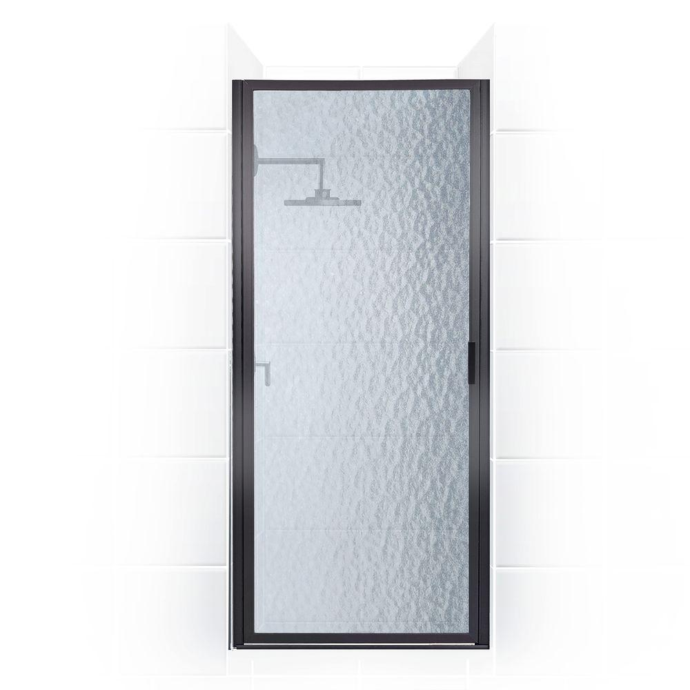 Coastal Shower Doors Paragon Series 28 in. x 69 in. Framed Continuous Hinged Shower Door in Oil Rubbed Bronze with Aquatex Glass