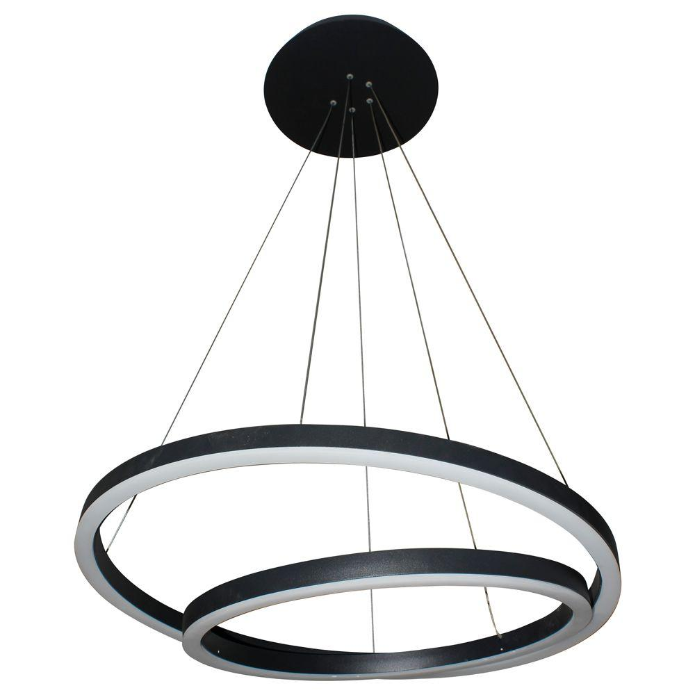 Black Integrated LED Chandeliers Lighting The Home Depot