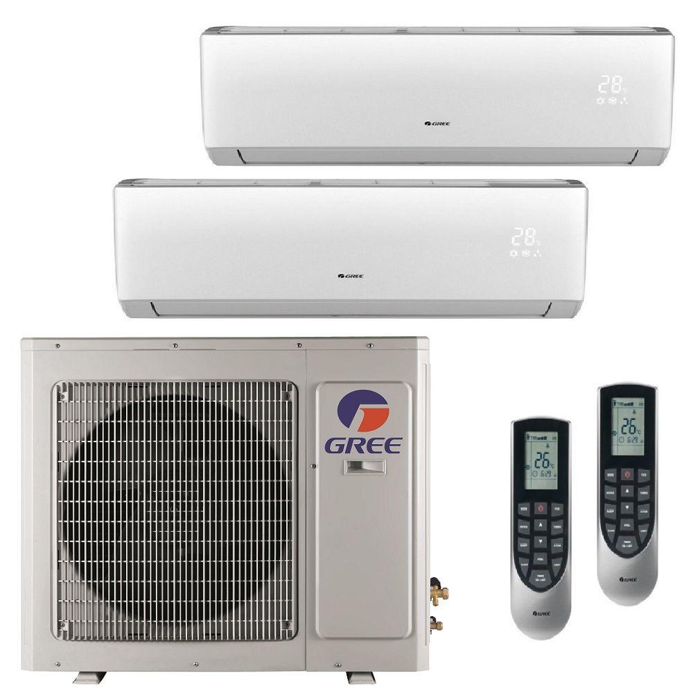 GREE Multi-21 Zone 26000 BTU Ductless Mini Split Air Conditioner with Heat, Inverter and Remote - 230-Volt