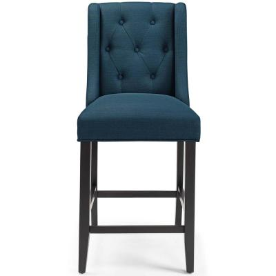 Baronet 26.5 Azure Tufted Button Upholstered Fabric Counter Stool