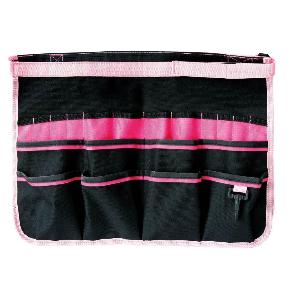 Bucket Organizer with Pink Edge