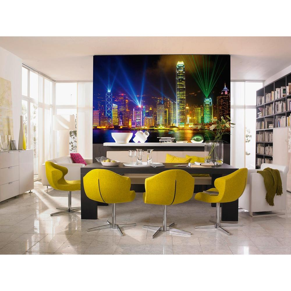 Ideal Decor 45 in. x 69 in. Victoria Harbor Wall Mural