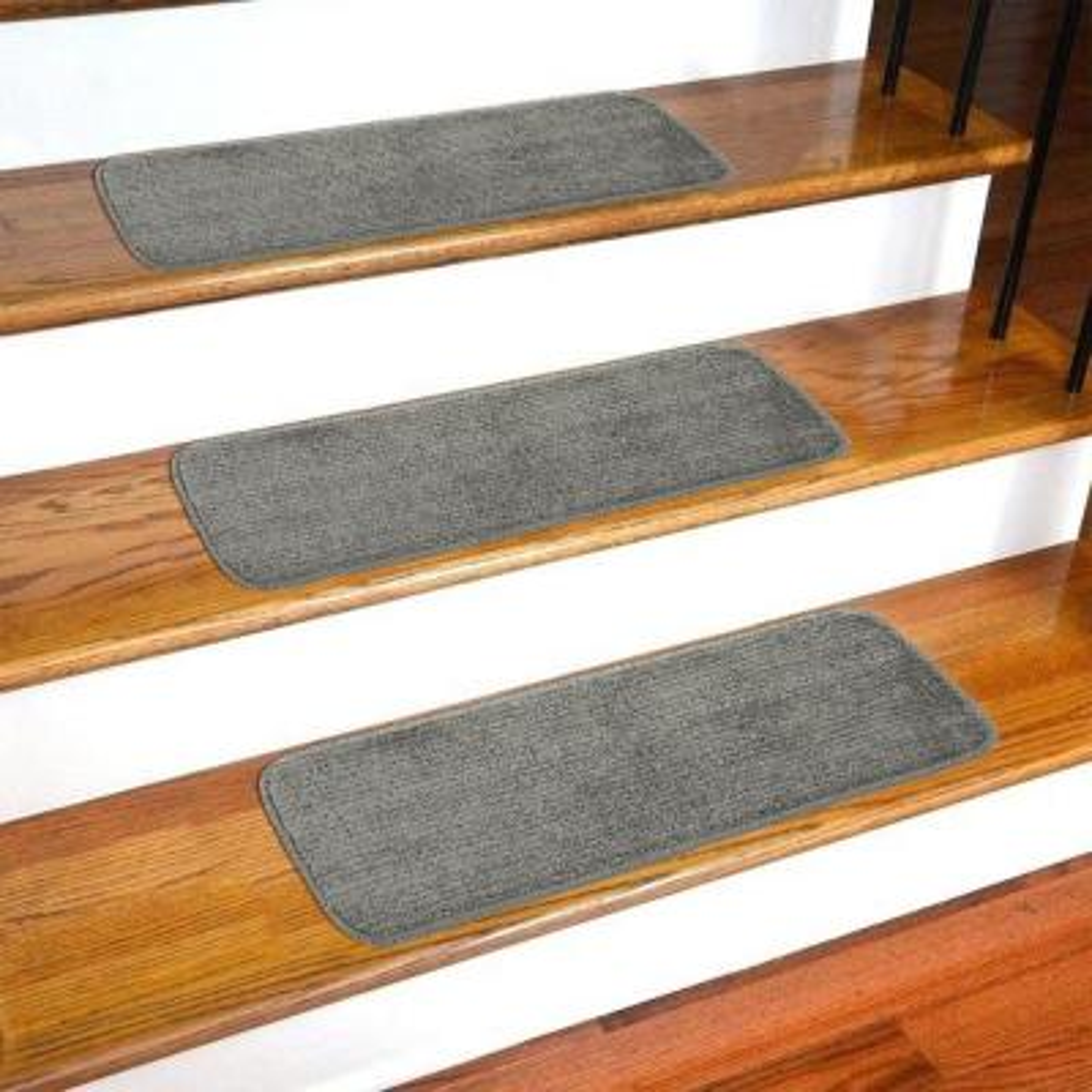 Softy Dark Grey 9 in. x 26 in. Non-Slip Stair Tread Cover (Set of 13)
