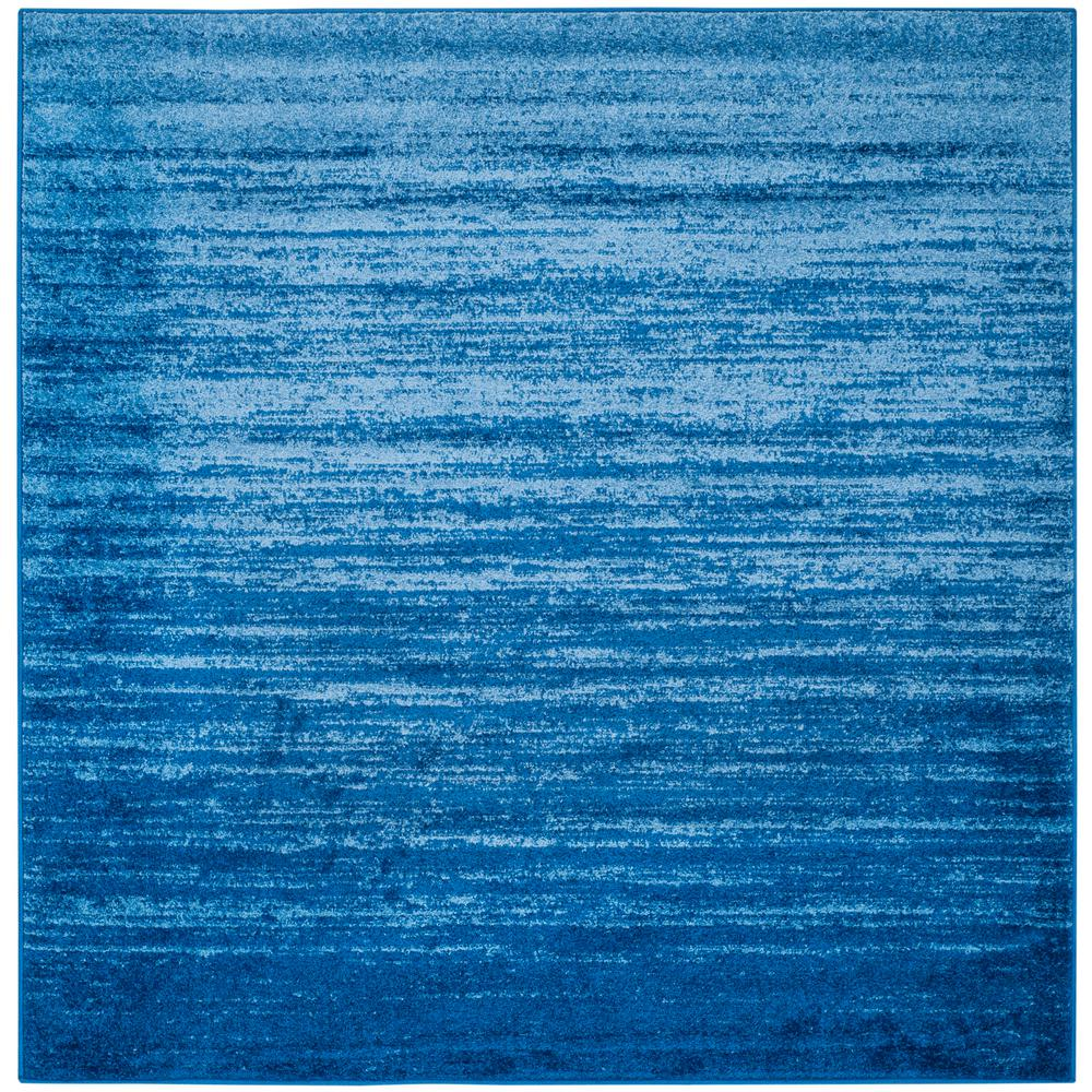 Safavieh Adirondack Light Blue Dark Blue 4 Ft X 4 Ft