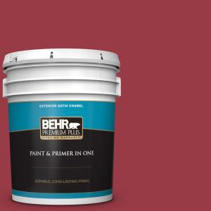 Behr Premium Plus 5 Gal Home Decorators Collection Hdc Cl 01 Timeless Ruby Satin Enamel Exterior Paint Primer 934005 The Home Depot