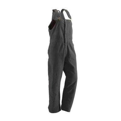 Women's Large Short Titanium Cotton Washed Insulated Bib Overall
