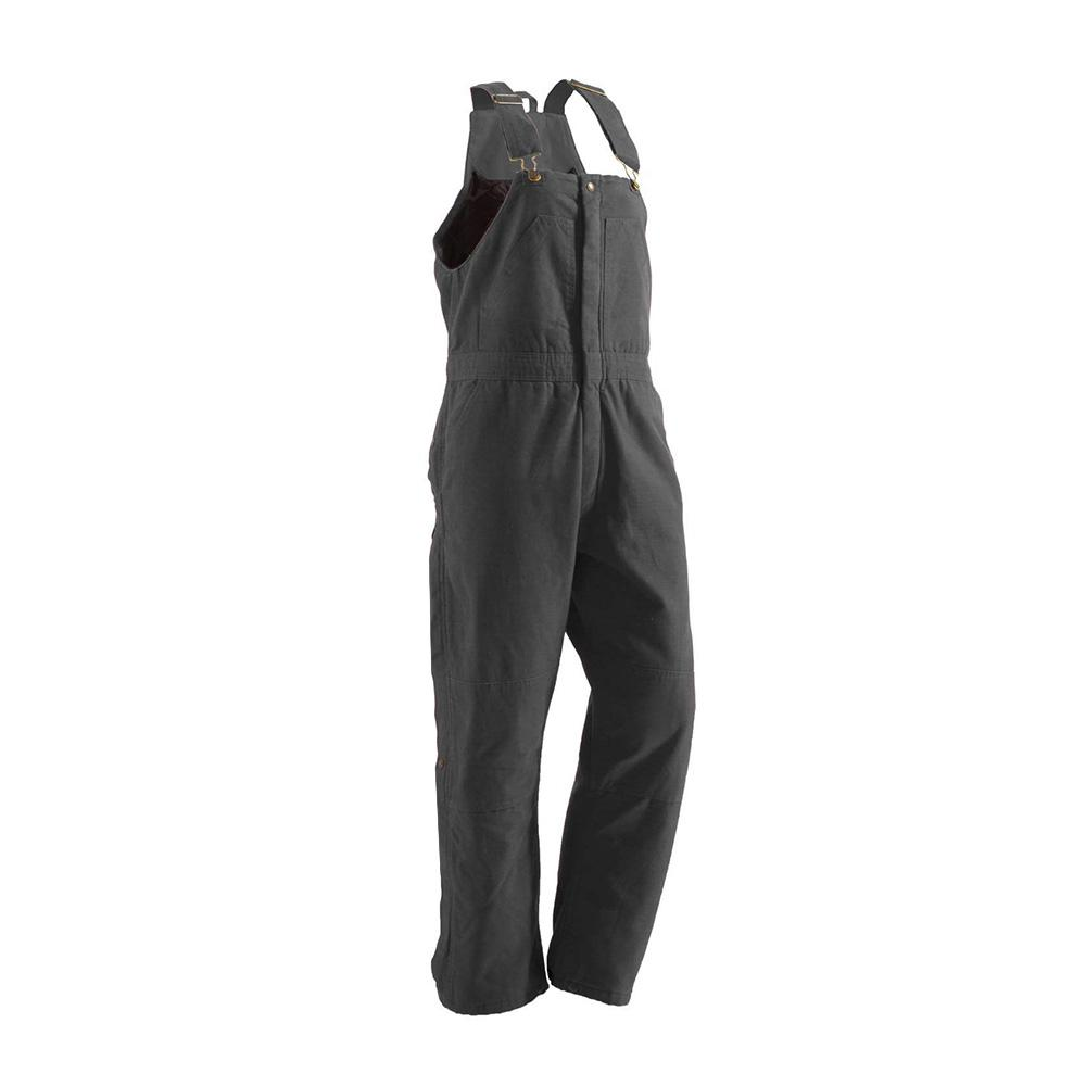 Women's Extra 4XL Tall Titanium Cotton Washed Insulated Bib Overall