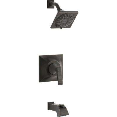 Truss Rite-Temp Single-Handle 3-Spray Tub and Shower Faucet in Oil-Rubbed Bronze (Valve Included)