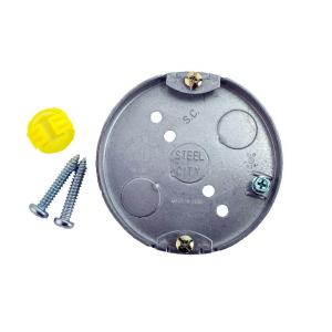 Click here to buy  4 inch 6 cu. inch Pre-Galvanized Steel Round Ceiling Fan Box (Case of 10).