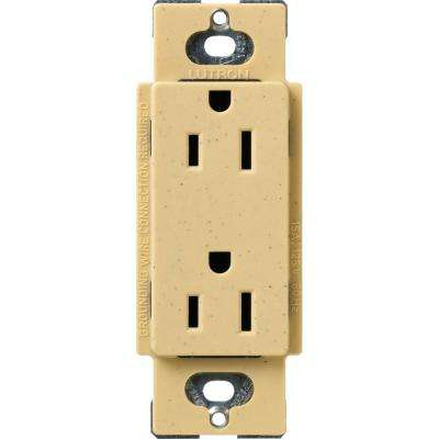 Claro 15 Amp Duplex Outlet, Goldstone