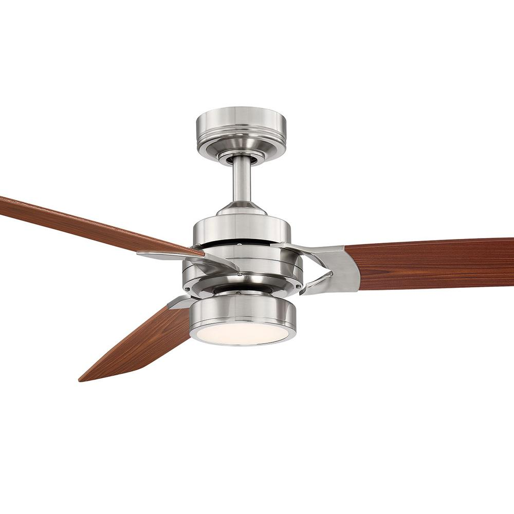 Fifth and Main Lighting Alexis 52 in. LED Brushed Nickel Ceiling Fan