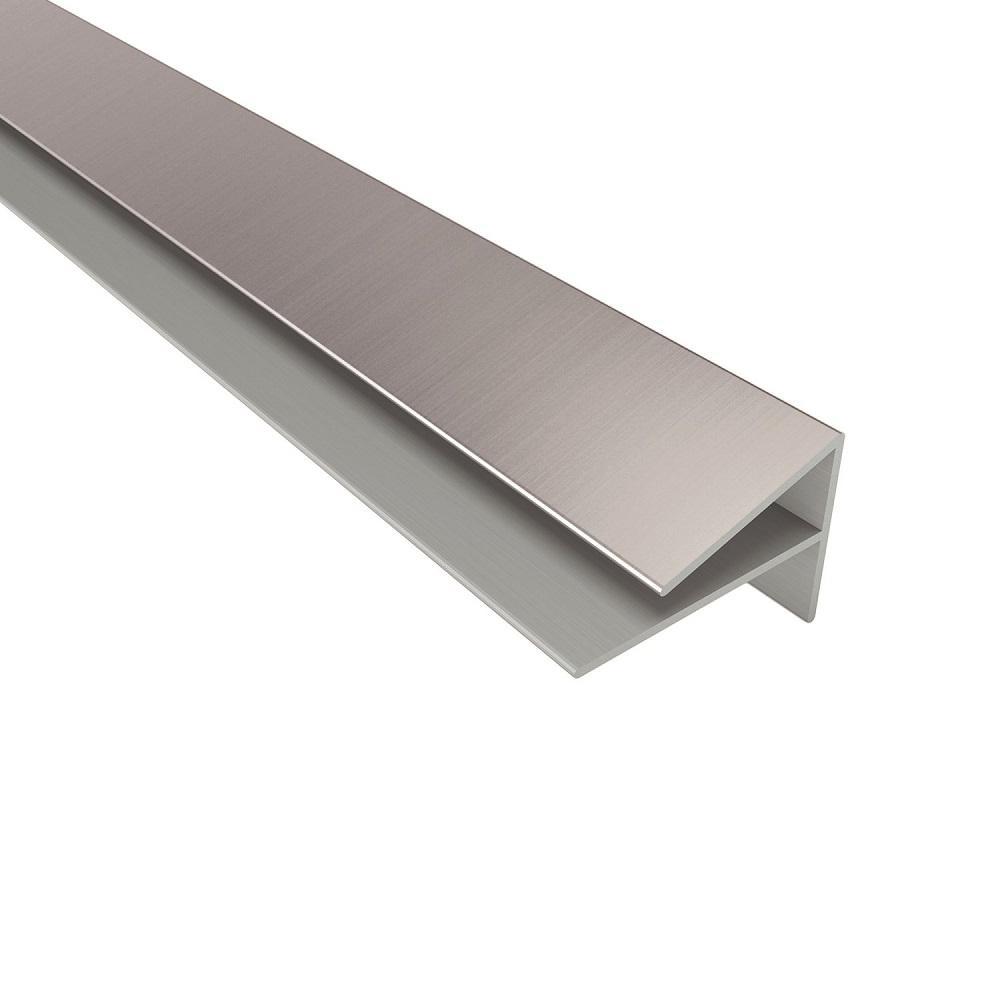 4 ft. Brushed Aluminum Outside Corner Trim