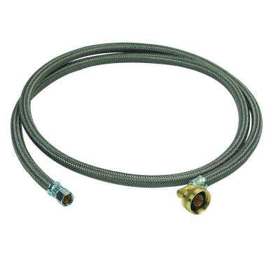 3/8 in. Compression x 3/4 in. Garden Hose Swivel Elbow x 72 in. Braided Polymer Dishwasher Connector