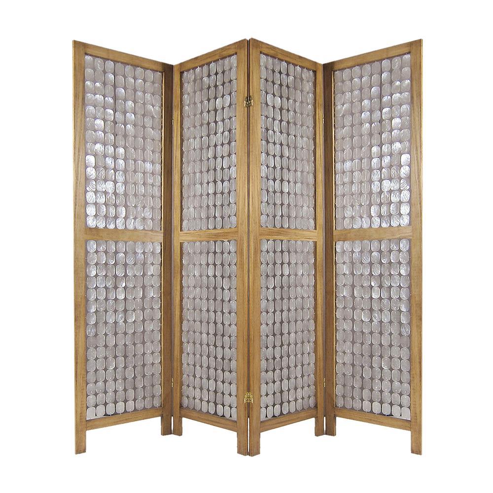 Princessa 7 ft. Multi 4-Panel Room Divider