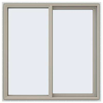 47.5 in. x 47.5 in. V-4500 Series Right-Hand Sliding Vinyl Windows - Tan