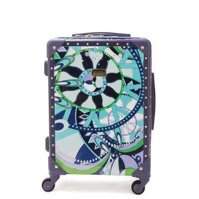 Sailing Serafina Trunk 21 in. Navy Rolling Luggage Suitcase