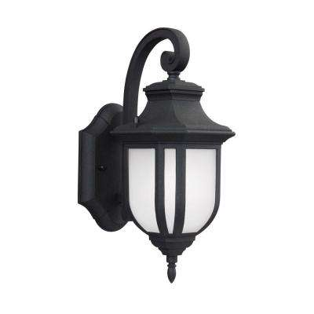 Childress 1-Light Black 12.625 in. Wall Lantern Sconce