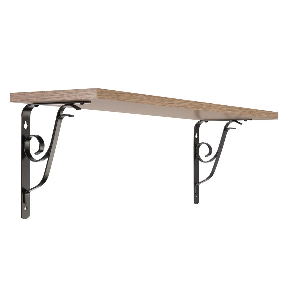 Measures  6 x 6 Brace Set of 6 Medium Simple Arch Cast Iron Shelf Brackets