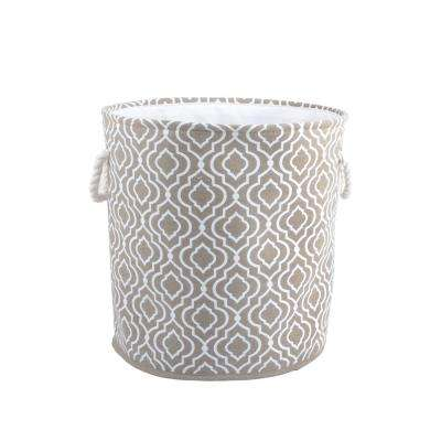 Hamper with Rope Hanldes in Taupe
