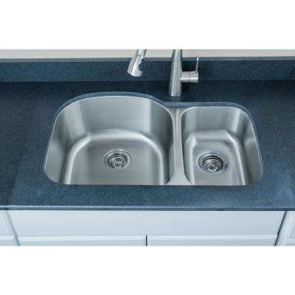 The Craftsmen Series Undermount 31 in. Stainless Steel 70/30 Double Bowl Kitchen Sink