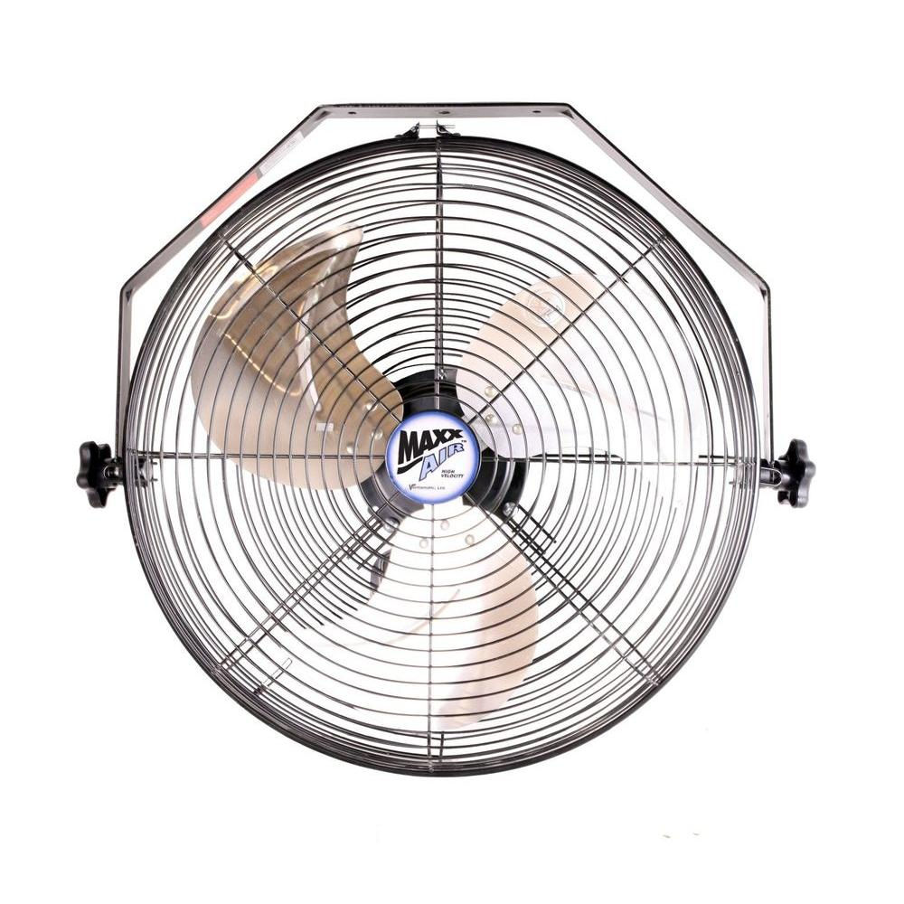 Home Depot Fans: MaxxAir 18 In. Wall Mount Fan-HVWM 18 UPS