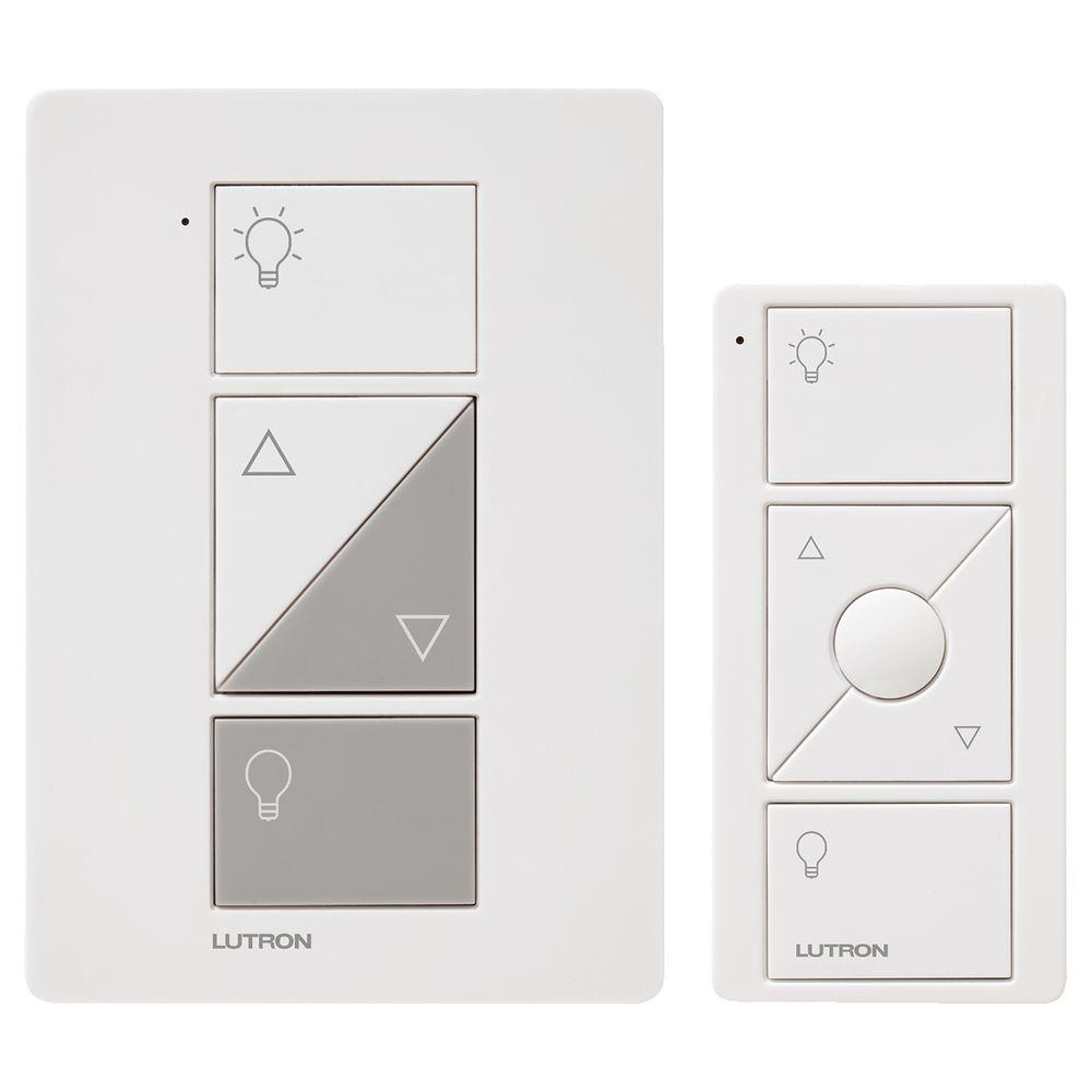 Lutron Caseta Wireless Smart Lighting L& Dimmer and Remote Kit White  sc 1 st  Home Depot & Lutron Caseta Wireless Smart Lighting Lamp Dimmer and Remote Kit ...