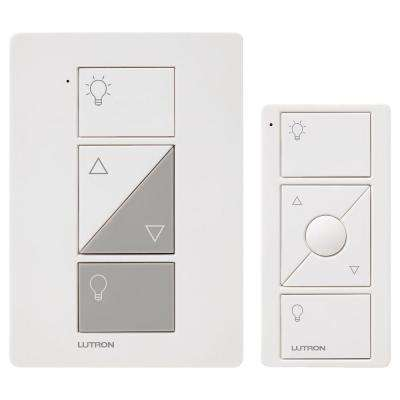 Caseta Wireless Smart Lighting Lamp Dimmer and Remote Kit, White