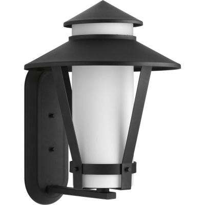Clearance outdoor wall mounted lighting outdoor lighting the via collection 1 light black fluorescent outdoor wall lantern workwithnaturefo