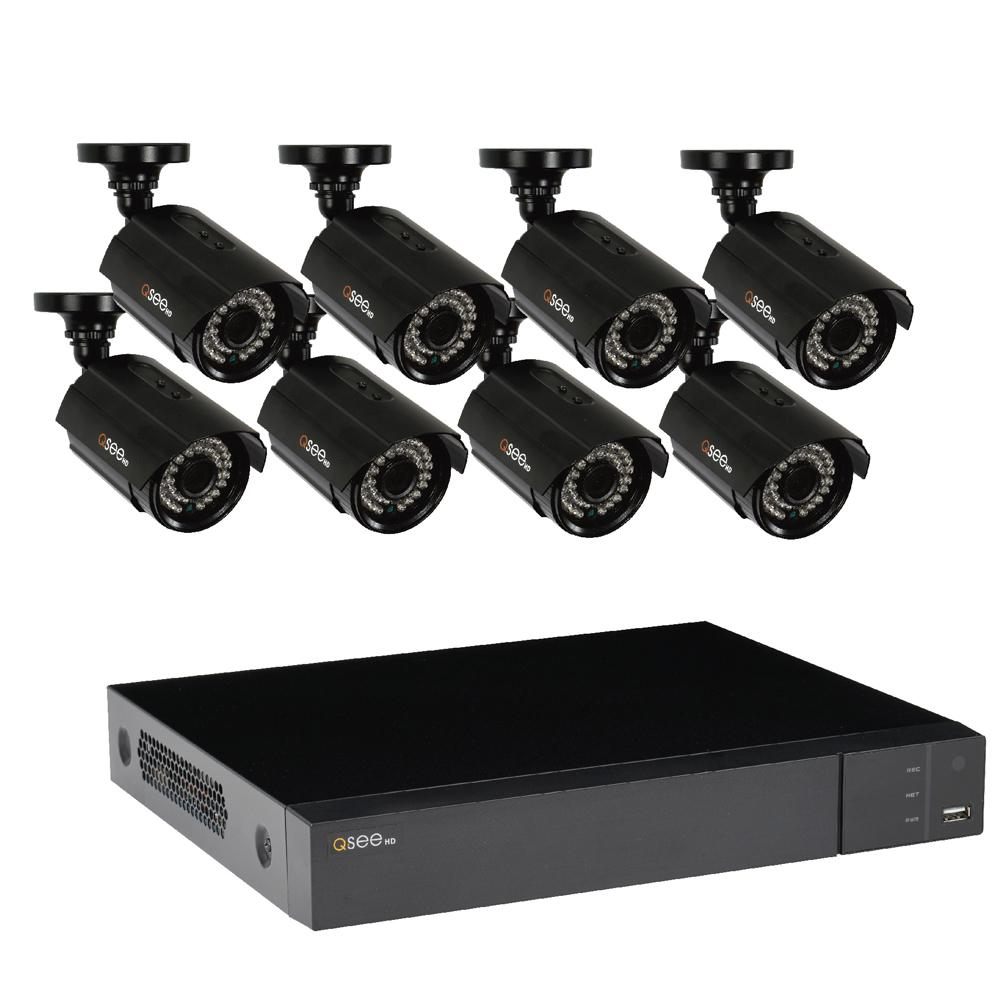 Q-SEE 8-Channel 1080p 1TB Video Surveillance System with 8 HD Cameras and 100 ft. Night Vision