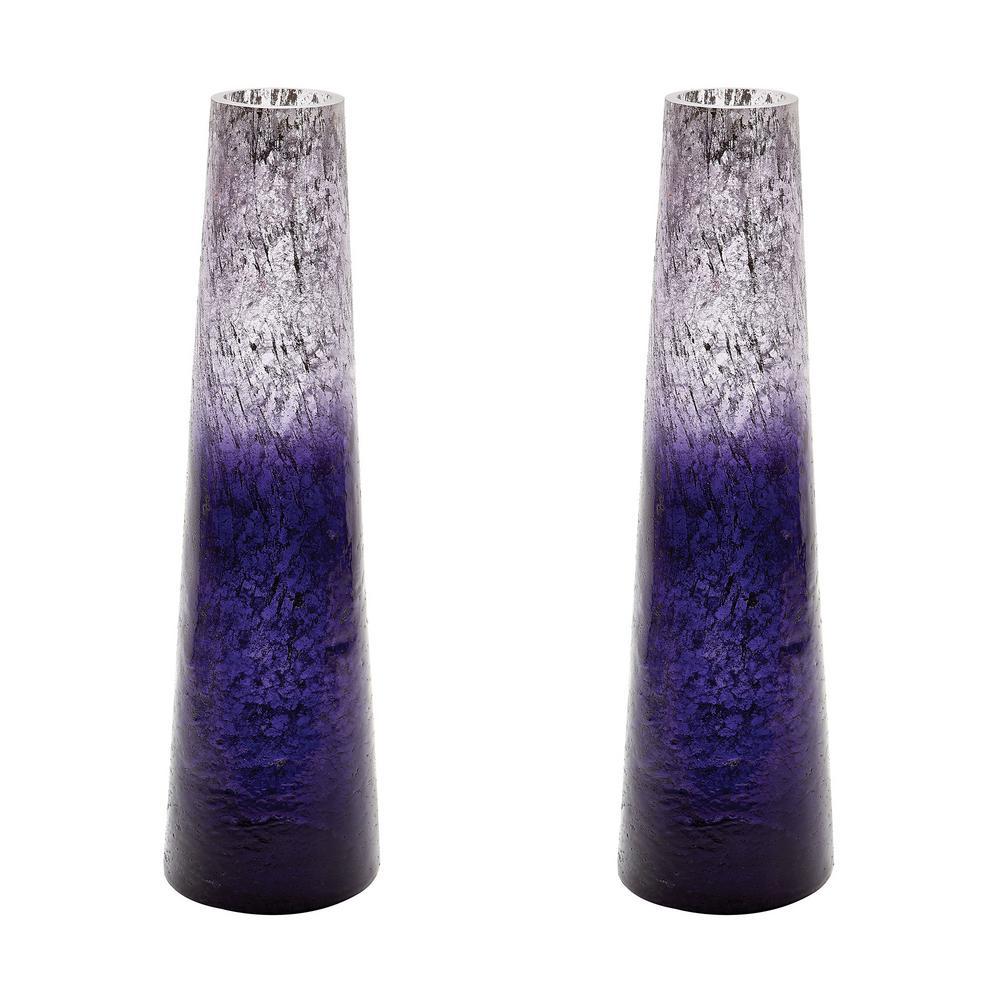 Titan Lighting Ombre 16 in. Glass Snorkel Decorative Vase in Plum (Set of 2  sc 1 st  Home Depot & Titan Lighting Ombre 16 in. Glass Snorkel Decorative Vase in Plum ... azcodes.com