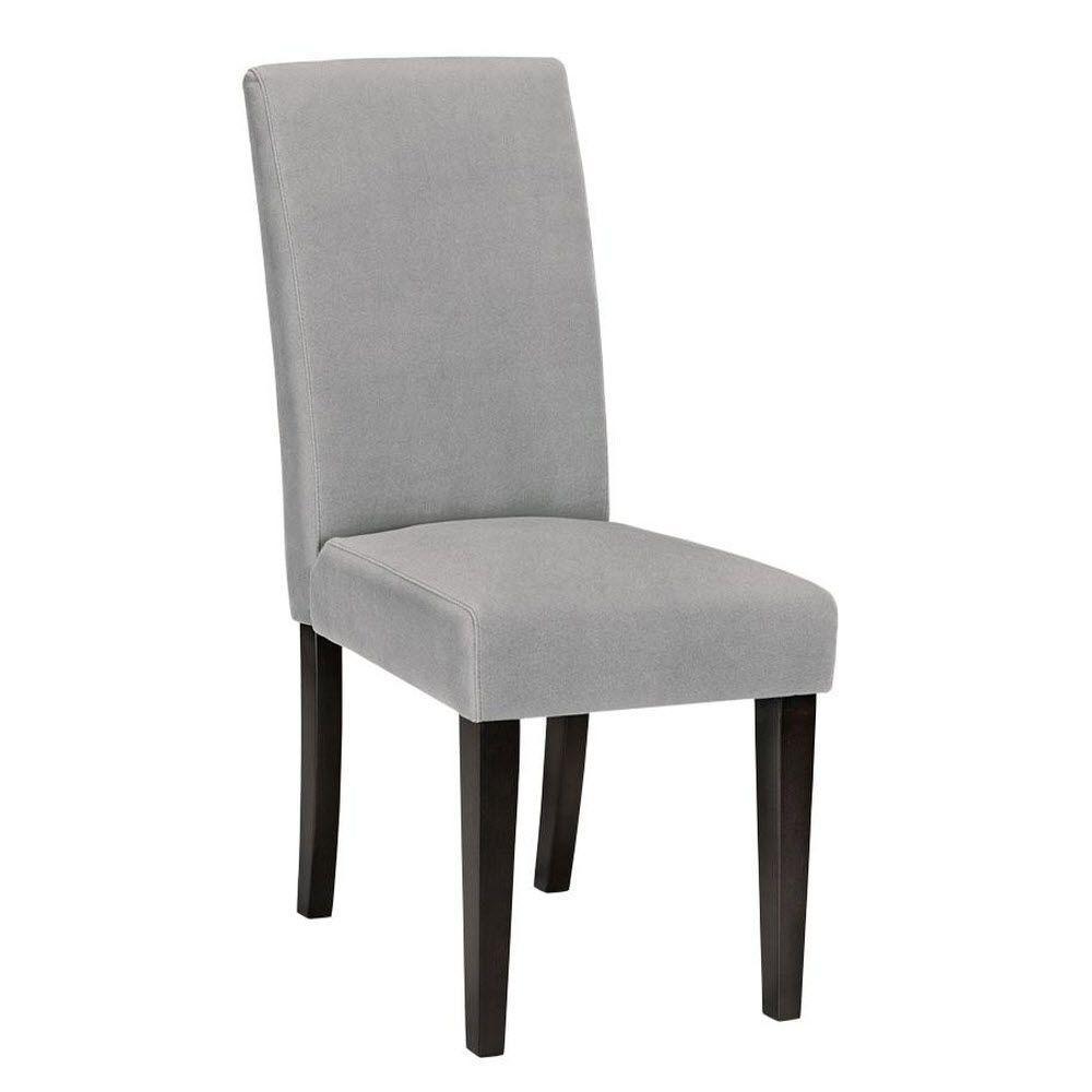 Parsons Gray Velvet Side Chair