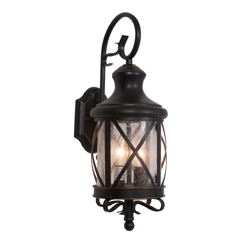 2-Light Exterior Lights in Oil Rubbed Bronze Small Size