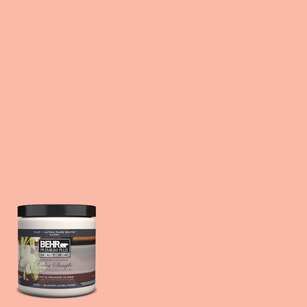 BEHR Premium Plus Ultra 8 oz. #200A-3 Blushing Apricot Interior/Exterior Paint Sample