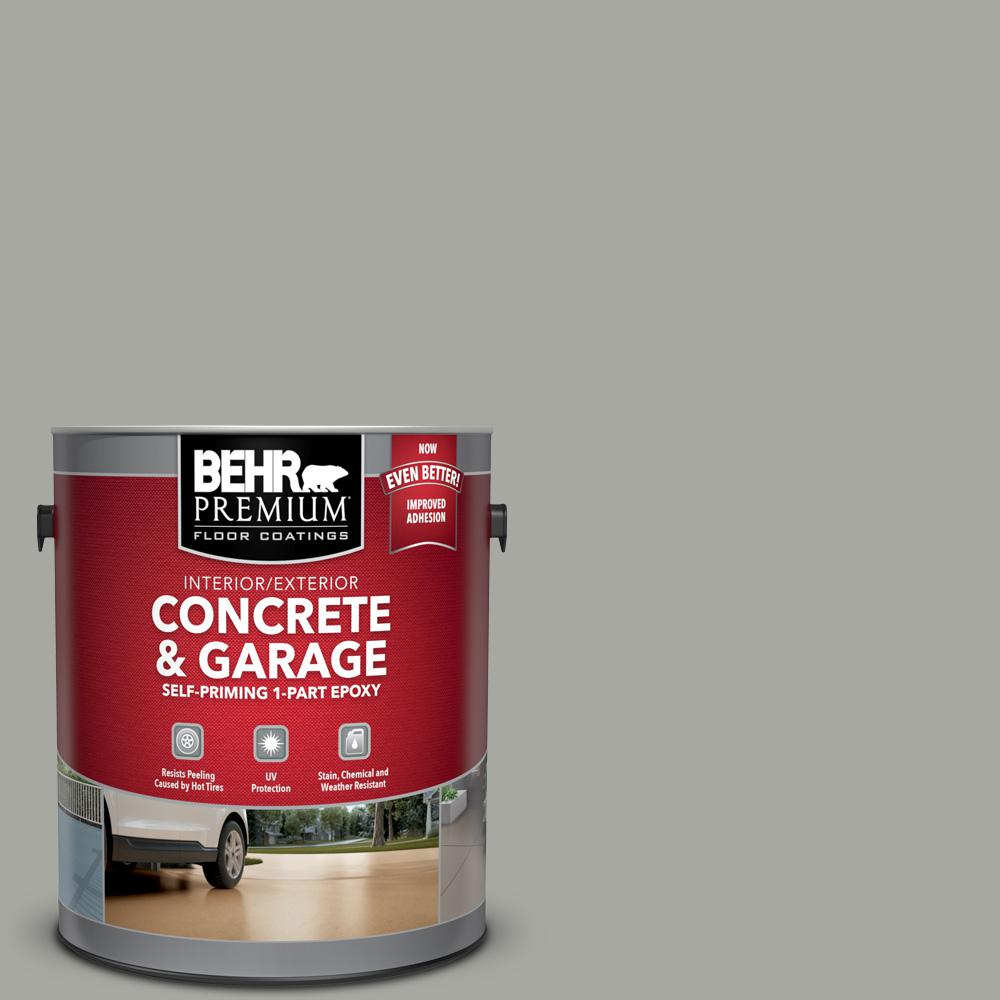 BEHR Premium 1 Gal. #PFC-68 Silver Gray Self-Priming 1-Part Epoxy Satin Interior/Exterior Concrete and Garage Floor Paint