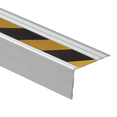 Novopeldano Safety Yellow/Black Strip 2-1/2 in. x 1-9/16 in. x 98-1/2 in. Aluminum Stair Nosing Trim