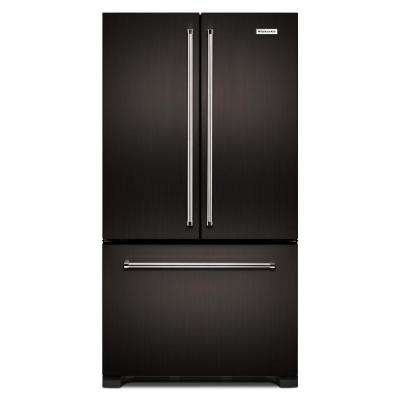 36 in. W 21.9 cu. ft. French Door Refrigerator in Black Stainless, Counter Depth